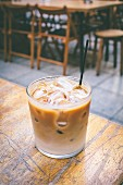 Creamy drink with coffee liqueur