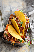 Korean Mexican fusion food: spicy Bulgogi tacos