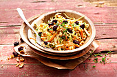 Canadian coleslaw with dried cranberries