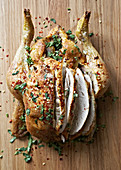Chilli roast chicken with herbs