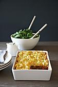 Makkaroni mit Käse und Rindfleisch