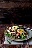 Egg and salad on toast