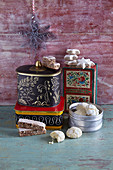 Christmas biscuits and biscuit tins