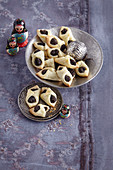 Kolachki filled with poppy seeds (Russian Christmas pastries)