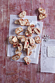 Fruit cantuccini (Italian Christmas biscuits)