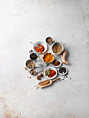 Ingredients for Indian curry powder