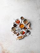 Zutaten für indisches Currypulver