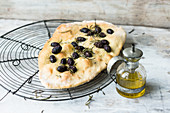 Olive focaccia with rosemary