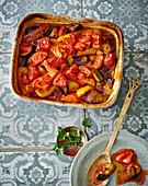 Khorak – braised Persian tamarind vegetables with minced meat