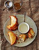 Kateyef – stuffed mini pancakes from Palestine