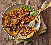 Omelette Khorma – Persian date omelette