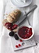 Berry jam with chia seeds (sugar-free)