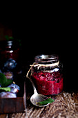 Plum jam with chia seeds