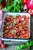 Slowly roasted tomatoes