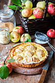 Apple pie with quark filling