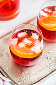 Negroni Sbagliato (a cocktail with prosecco, Campari and vermouth)