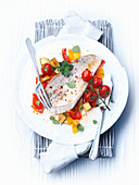 Pike-perch fillet with vegetables