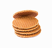 A stack of honey waffles