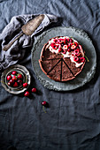 Black Forest cherry tart