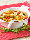Sweet and spicy shrimp soup