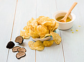 Truffle crisps with olive oil