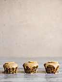 Three banana cupcakes