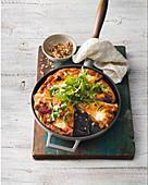 Roast beetroot and pumpkin frittata