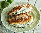 Chicken breasts stuffed with spinach and cream cheese