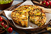 Courgette mint frittata