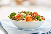 Dog Food - Pasta mit buntem Gemüse und Hackfleisch
