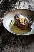Fillet steak with rosemary