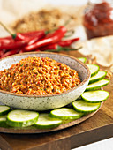 Spicy walnut dip