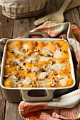 Pumpkin lasagne with walnuts