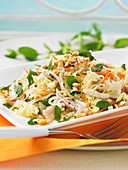 Chicken, cabbage and noodle salad