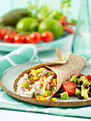 Fruity fish fajitas