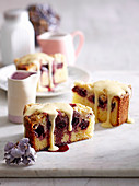 Cherry Crumble Tea Cake