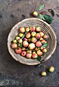 Zieräpfel im Korb
