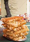 Potato crisps on skewers (Hungary)