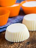 Homemade soap bars shaped like muffins
