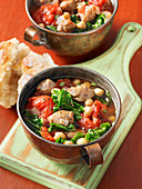 Sausage kale and chickpea soup