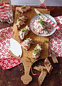 Salmon tartare with radishes