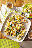 Gado Gado salad with eggs, tofu and peanut sauce (Indonesia)