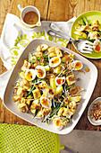 Gado Gado salad with eggs, tofu and peanut sauce (Indonesia)