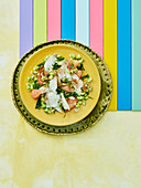 Chilean ceviche with grapefruit