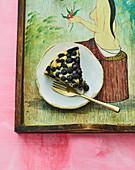 Hawaiian blueberry cake with lemongrass