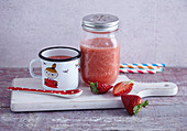 Strawberry and tomato smoothie with watermelon