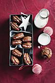 Weihnachtsplätzchen mit Zuckerstange-Füllung