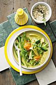 Grünes Curry mit Huhn und Gemüse (Superfood)