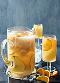Pear, lychee and vanilla iced tea