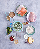 Ingredients for quick, healthy children's meals